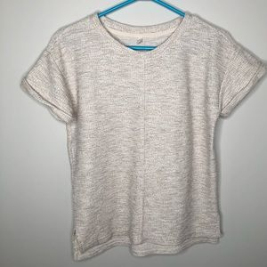 Lou & Grey T-Shirt Sweater Marbled Beige Size XS